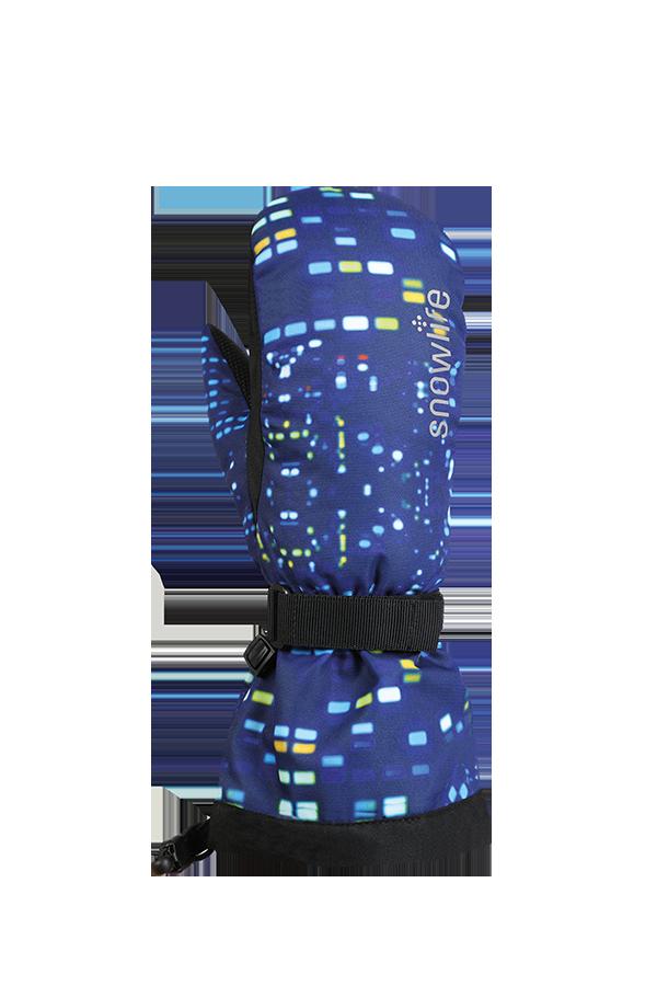 Kids Long Cuff DT Glove, Gants, Moufles pour enfants avec longue manchette, bleu