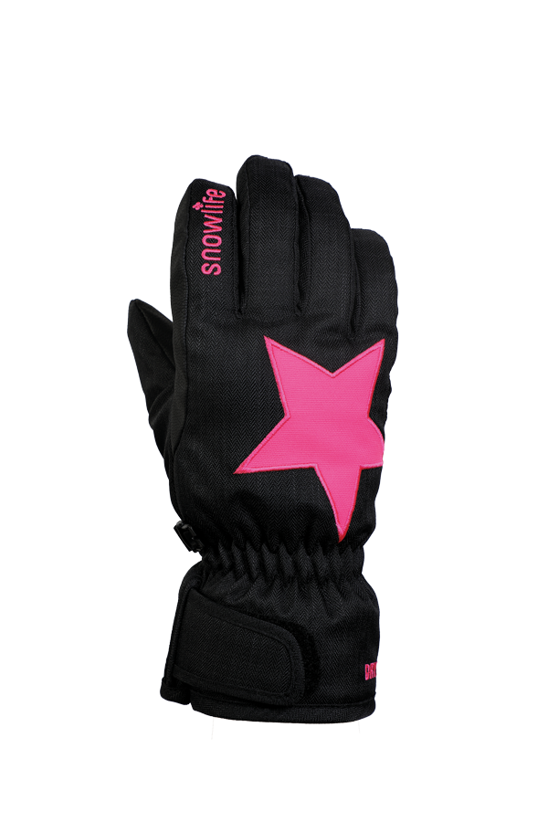 Kids Sirius DT Glove, Kids gloves, very warm, windproof, water-repellent, black, pink