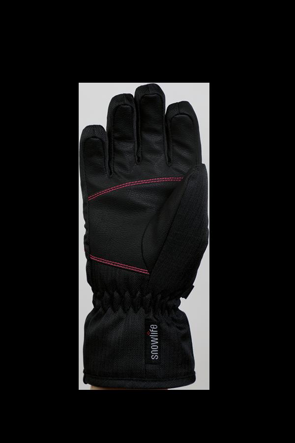 Kids Sirius DT Glove, Kids gloves, very warm, windproof, water-repellent, black, pink