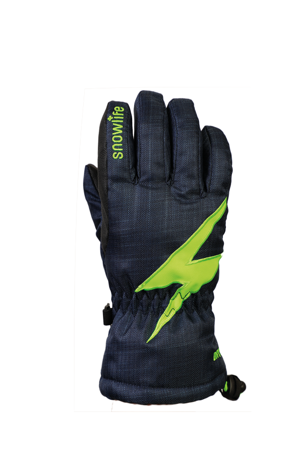Kids Sirius DT Glove, Kids gloves, very warm, windproof, water-repellent, blue, green
