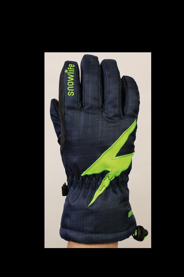 Kids Sirius DT Glove, Gants pour enfants, très chaud, coupe-vent, imperméable, bleu, vert