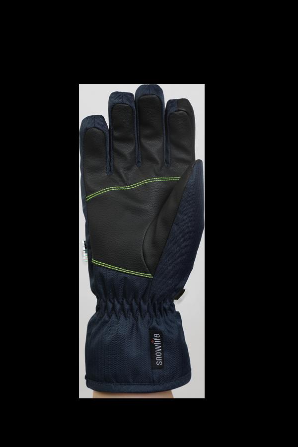 Kids Sirius DT Glove, Kids gloves, very warm, windproof, water-repellent, blue, green