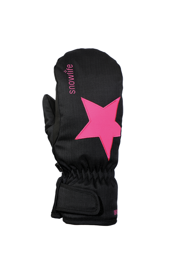 Kids Sirius DT Mitten, Kids gloves, very warm, windproof, water-repellent, black, pink