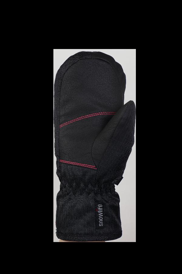 Kids Sirius DT Mitten, Kids gloves, very warm, windproof, water-repellent, black, pink