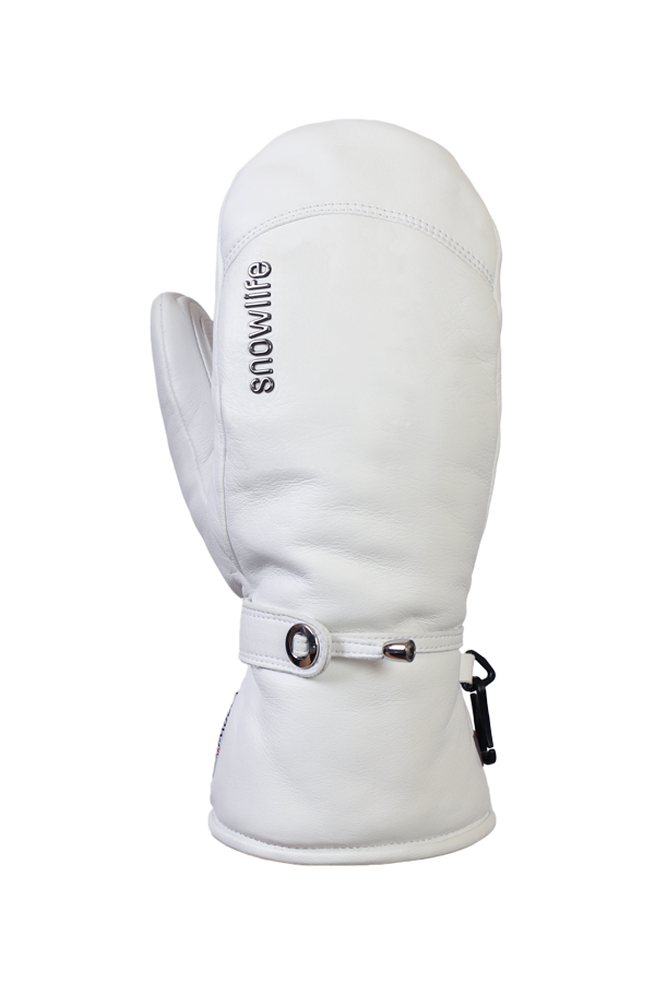 Lady Grand Soft Mitten, Mitten Gloves with Primaloft, Women, real Leather, white