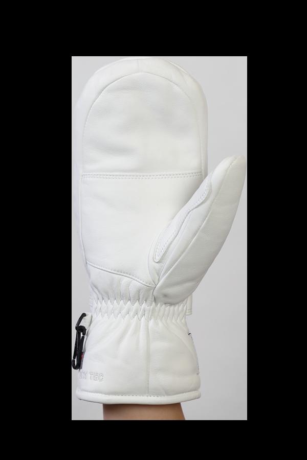 Lady Grand Soft Mitten, Leder, Fausthandschuh mit Primaloft, für Frauen, weiss