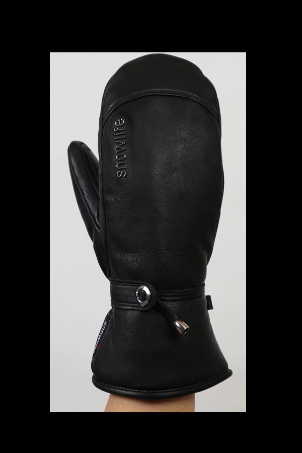 Lady Grand Soft Mitten, Gants, Moufles avec Primaloft, gants de cuir, noir