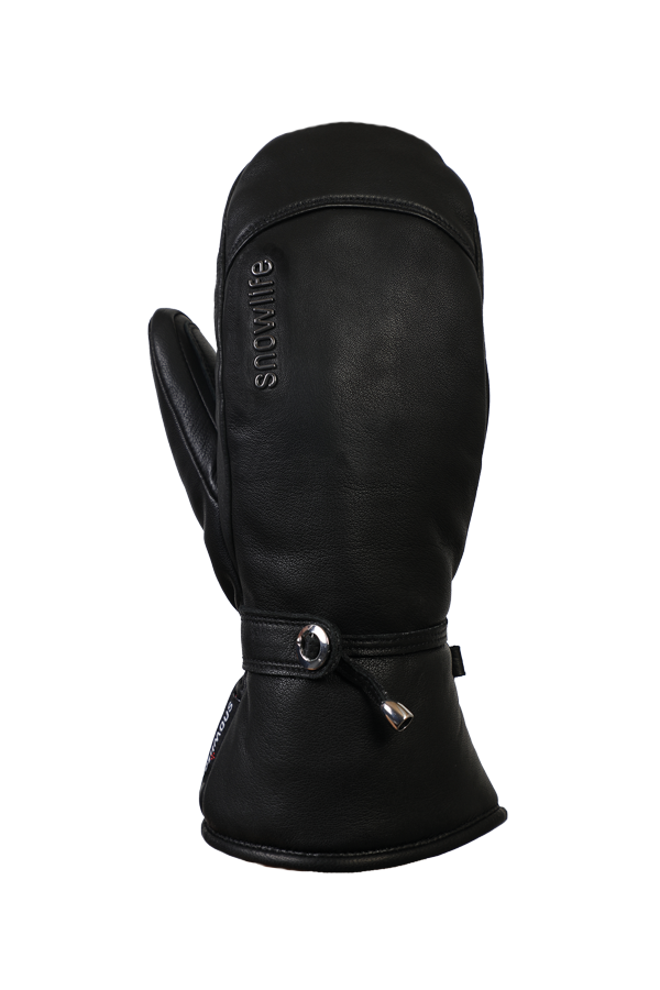 Lady Grand Soft Mitten, Mitten Gloves with Primaloft, Women, real Leather, black