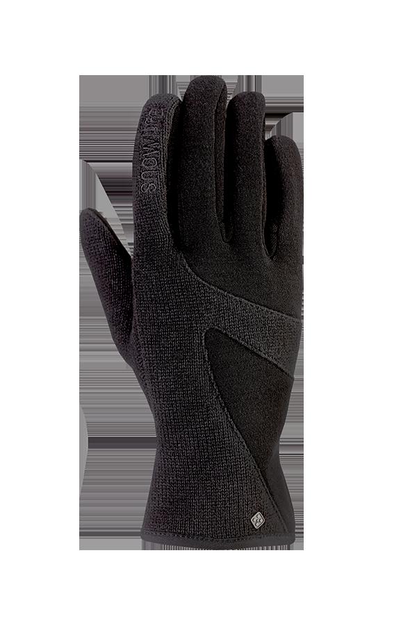 Lady Knit Glove, Gants pour femmes, noir