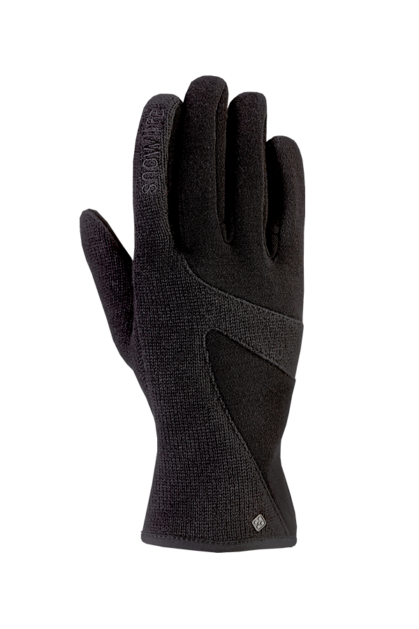 Lady Knit Glove, Wool Glove, black
