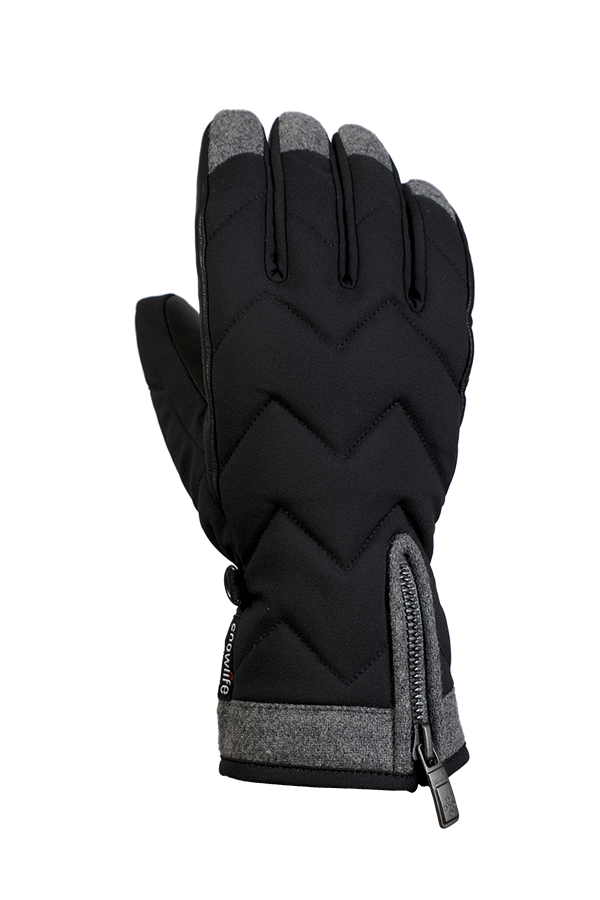 Lady Luxe Glove, Gloves elegant, modern design, black