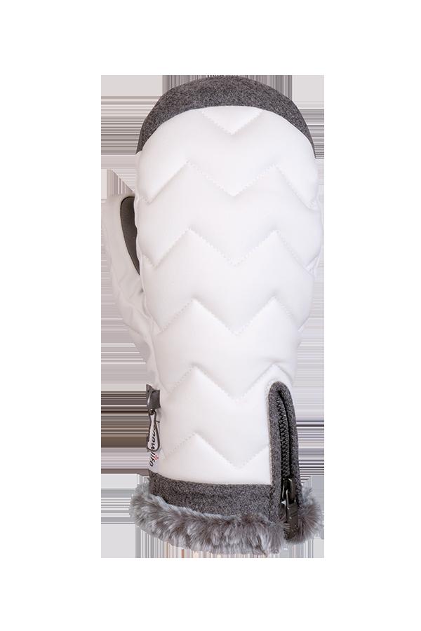 Lady Luxe Mitten, Mitten elegant, modern design, white