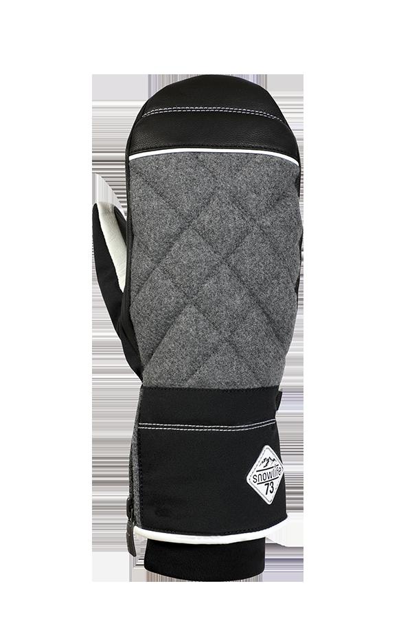 Lady Sophia DT Mitten, Gants, Moufles pour femmes avec gants intérieurs, noir, gris