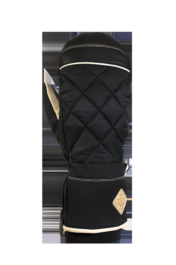 Lady Sophia DT Mitten, Gants, Moufles pour femmes avec gants intérieurs, noir, beige