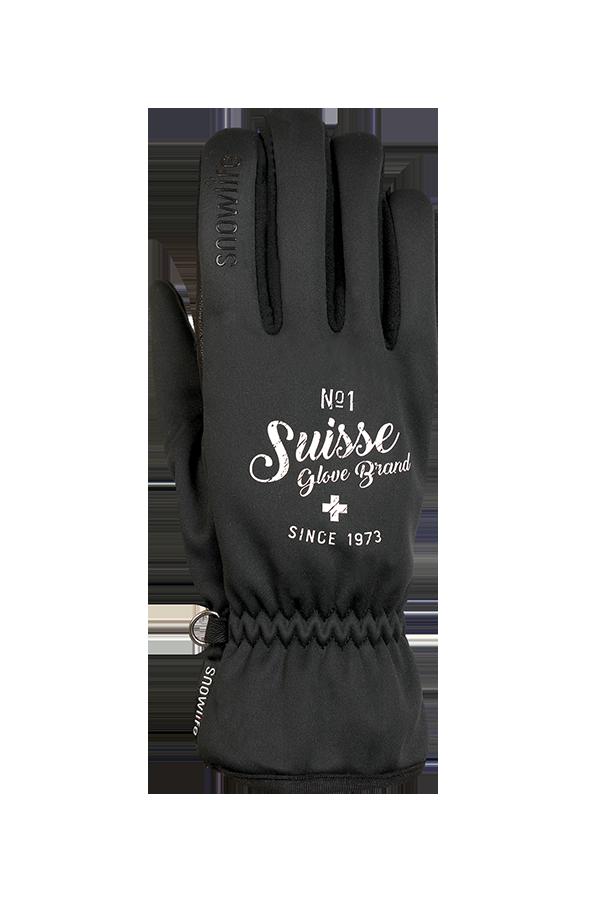 Multi WS Soft Shell, Gants avec Gore-Tex windstopper, swiss glove brand, noir
