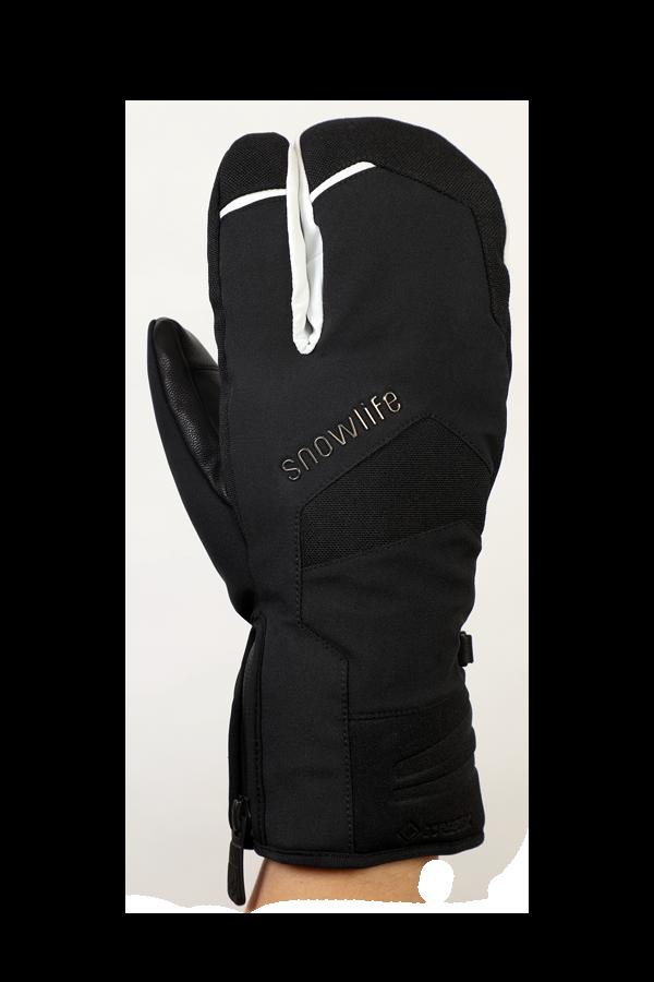 Nevada GTX 3 Fingers, der sportliche Handschuh mit 3-Finger-System, Gore-Tex Membran, sehr atmungsaktiv und robust, weiss, schwarz