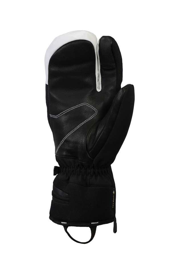 Nevada GTX 3 Finger, 3-Finger-System, the sporty glove with Gore-Tex membrane, very breathable and robust, black, white