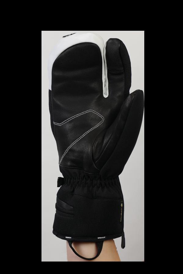 Nevada GTX 3 Fingers, Système à trois doigts, le gant sportif avec membrane Gore-Tex, très respirant et robuste, noir, blanc