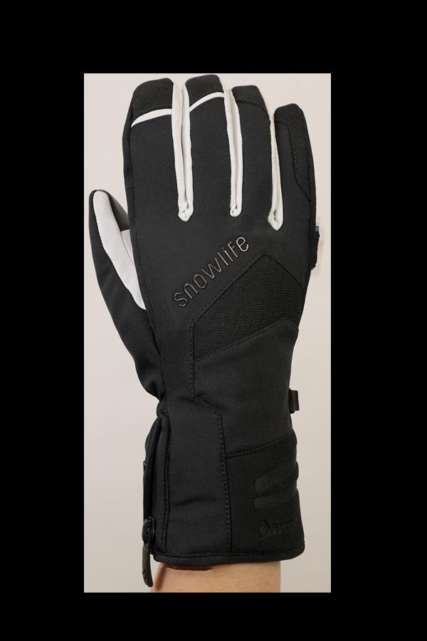 Nevada GTX Glove, der sportliche Handschuh mit Gore-Tex Membran, sehr atmungsaktiv und robust, schwarz weiss