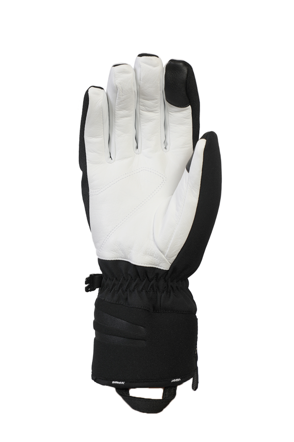 Nevada GTX Glove, the sporty glove with Gore-Tex membrane, very breathable and robust, black and white