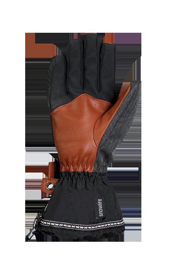 Rider DT Glove, Freeride, Gloves for Junior, brown, black