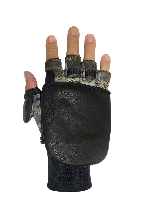 Soft Shell Outdoor Glove, with Cap, green, nature