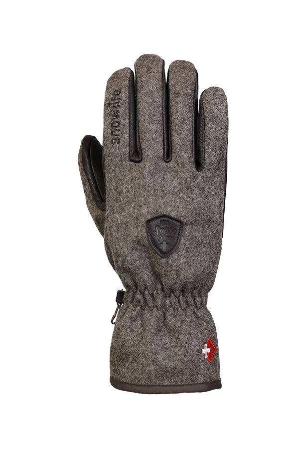 Swiss Shephard Glove, Swiss Wool Gloves, brown