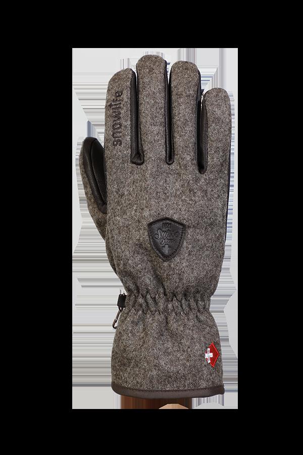 Swiss Shepherd Glove, Handschuh aus Schweizer Wolle, braun