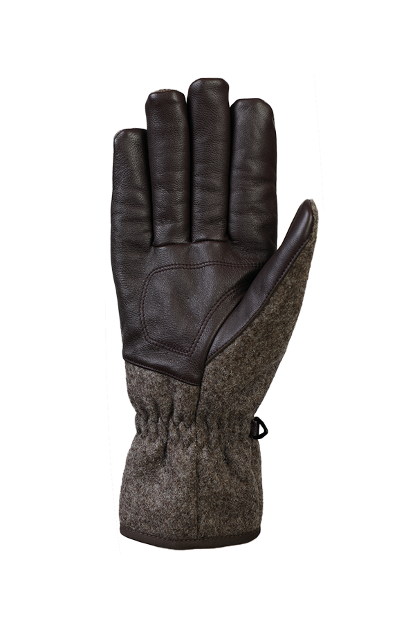 Swiss Shephard Glove, Gants avec laine de suisse, tradition, brun