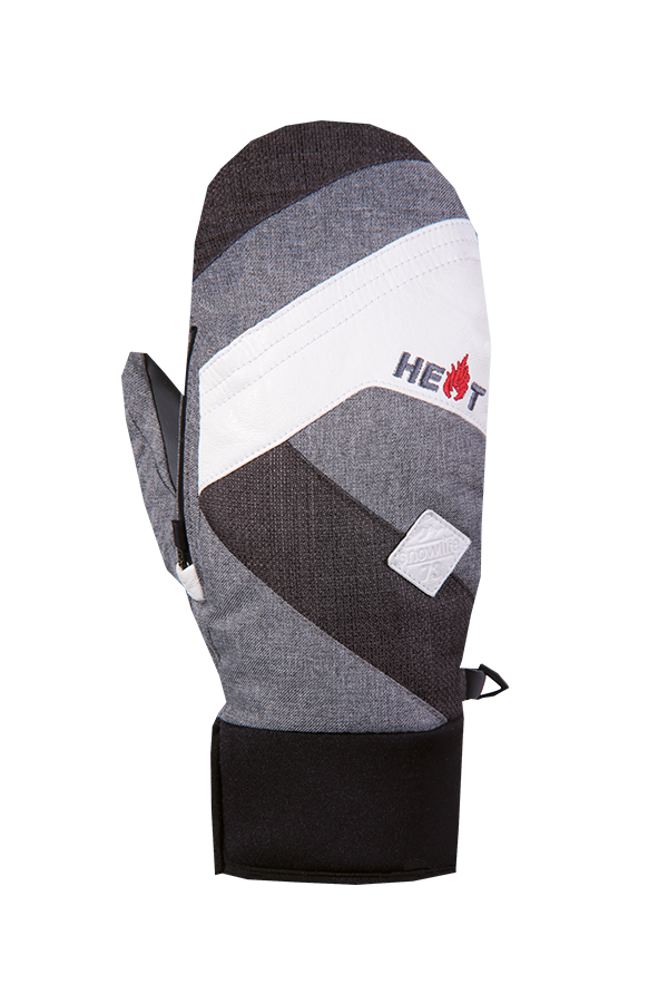 Thermo MItten Short, Gants, Moufles, tres chaud, gris, blanc