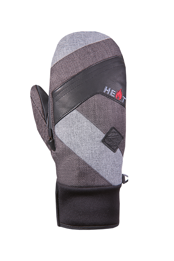 Thermo Mitten Short, Extra warm, grey, black