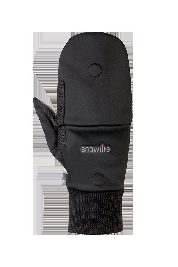 WS Soft Shell Glove, Gants avec capot, Gore-Tex windstopper, noir