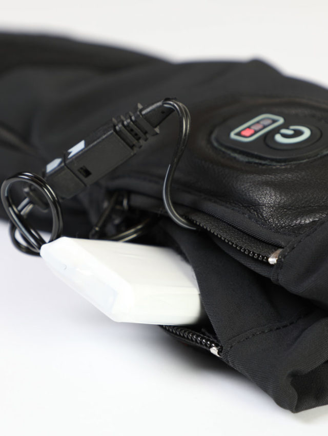 details of heat gloves, snowlife, battery, swiss engineering
